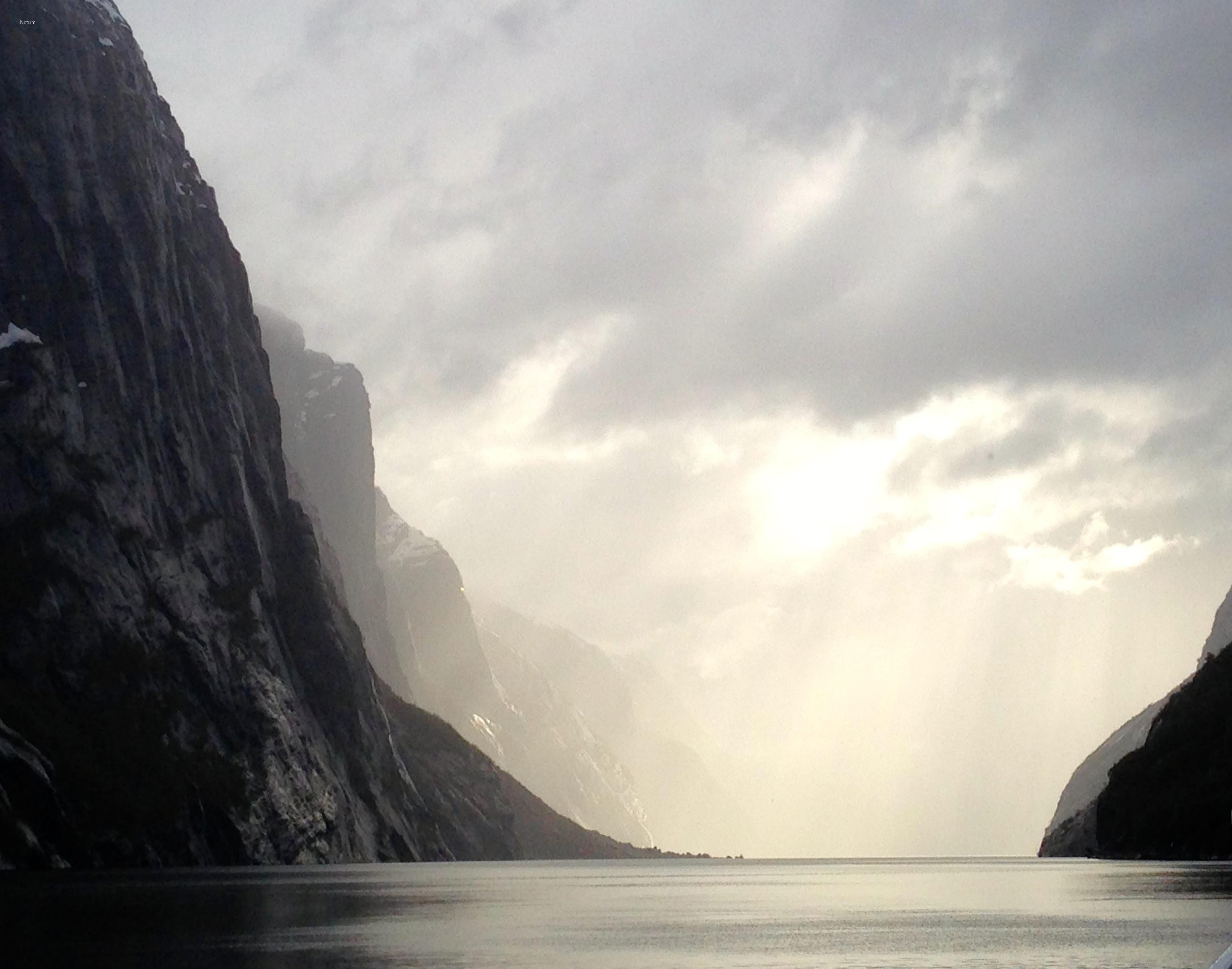 notum-lyset i Lysefjorden